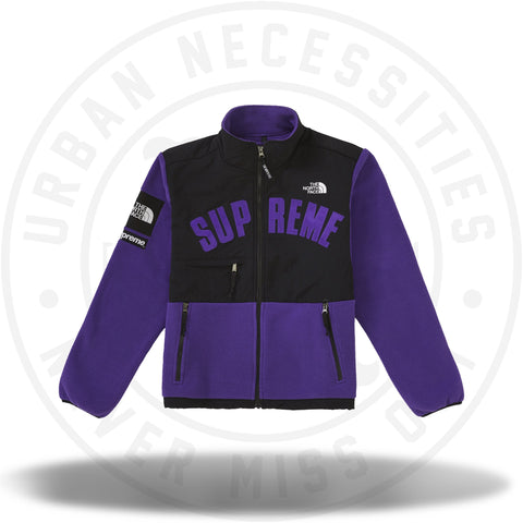 Supreme The North Face Arc Logo Denali Fleece Jacket - Purple-Urban Necessities