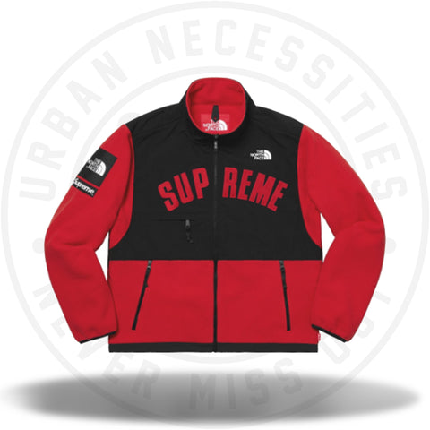 Supreme The North Face Arc Logo Denali Fleece Jacket - Red-Urban Necessities
