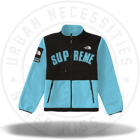 Supreme The North Face Arc Logo Denali Fleece Jacket - Teal-Urban Necessities