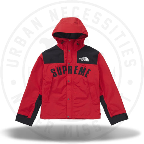 Supreme The North Face Arc Logo Mountain Parka - Red-Urban Necessities