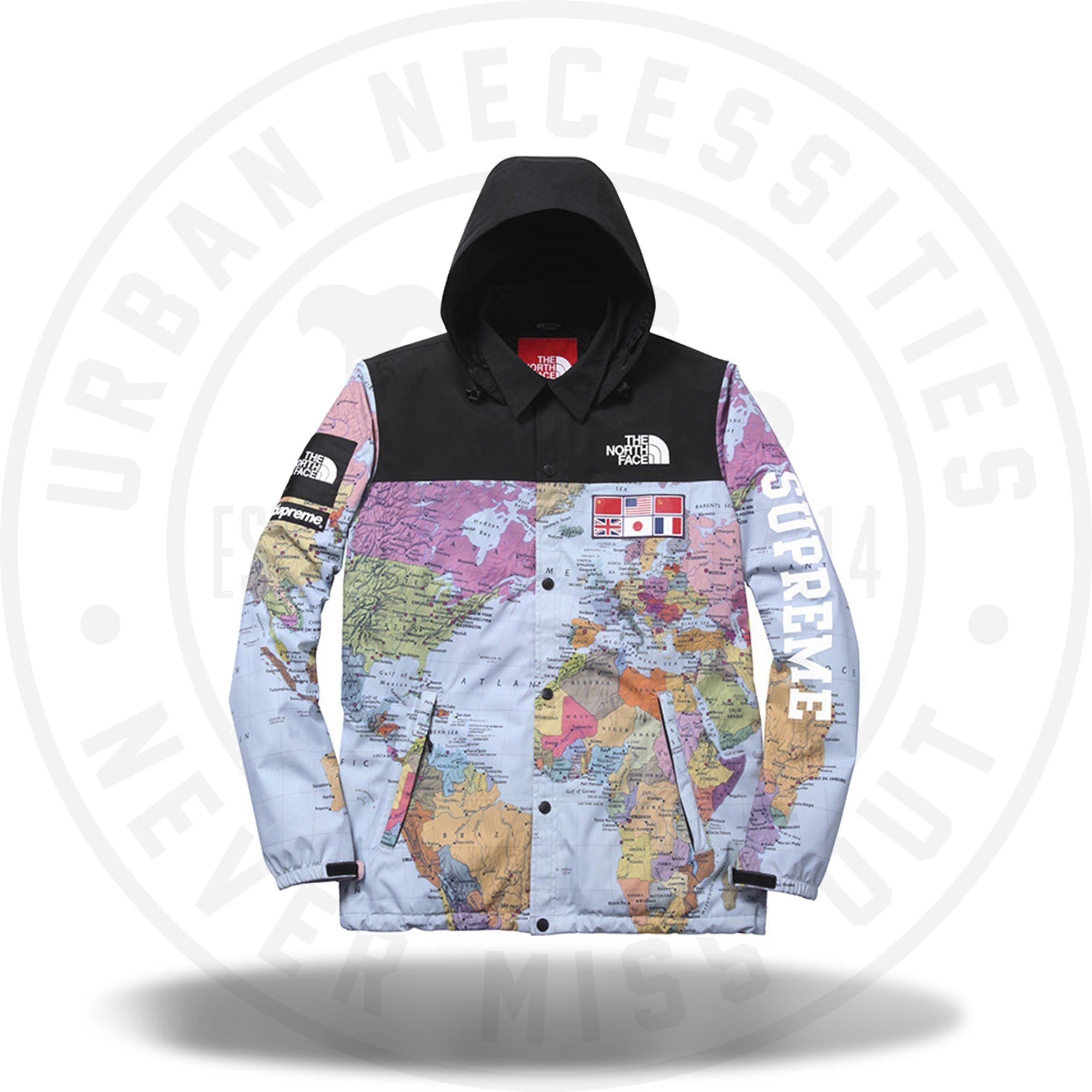 Supreme The North Face Expedition World Map SS14