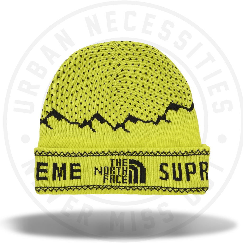 Supreme The North Face Fold Beanie Sulphur-Urban Necessities