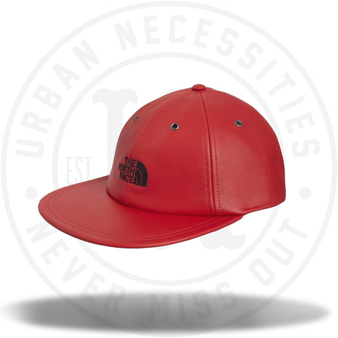 Supreme The North Face Leather 6-Panel Red-Urban Necessities