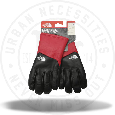 Supreme The North Face Leather Gloves Red-Urban Necessities