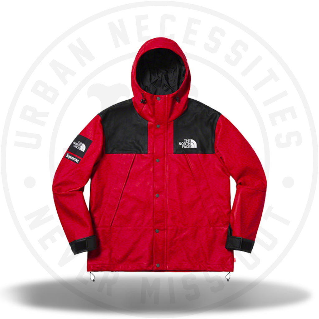 Supreme The North Face Leather Mountain Parka Red (FW18)-Urban Necessities