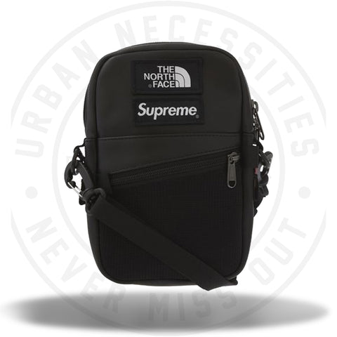 Supreme The North Face Leather Shoulder Bag Black (FW18)-Urban Necessities