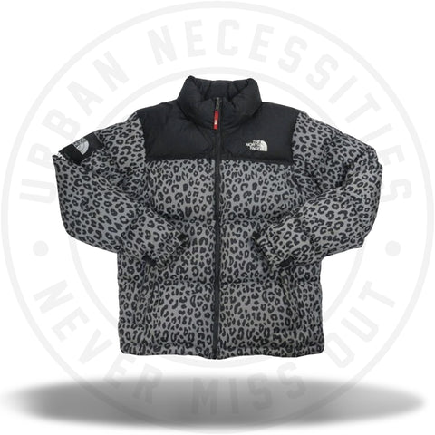 Supreme The North Face Leopard Nuptse Grey-Urban Necessities