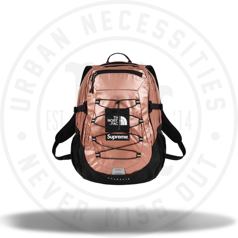 Supreme The North Face Metallic Borealis Backpack Rose Gold-Urban Necessities