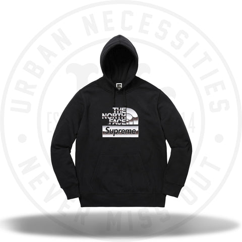 Supreme The North Face Metallic Logo Hooded Sweatshirt Black-Urban Necessities