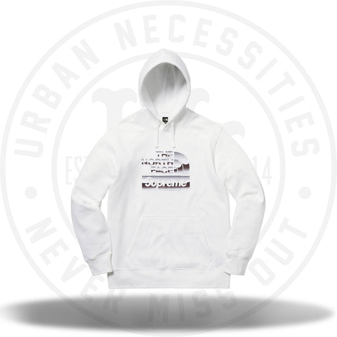 Supreme The North Face Metallic Logo Hooded Sweatshirt White-Urban Necessities
