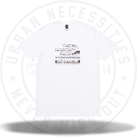 Supreme The North Face Metallic Logo T-Shirt White-Urban Necessities