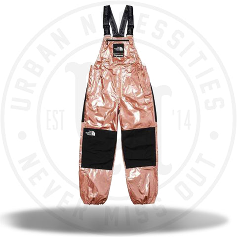 Supreme The North Face Metallic Mountain Bib Pants Rose Gold-Urban Necessities