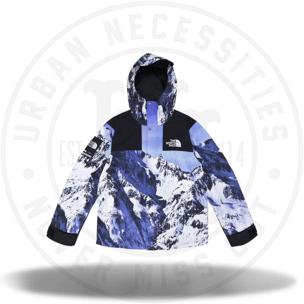 Supreme The North Face Mountain Parka Blue/White-Urban Necessities