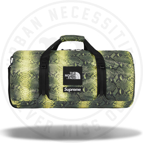 Supreme The North Face Snakeskin Flyweight Duffle Bag Green-Urban Necessities