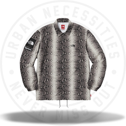 Supreme The North Face Snakeskin Taped Seam Coaches Jacket Black-Urban Necessities