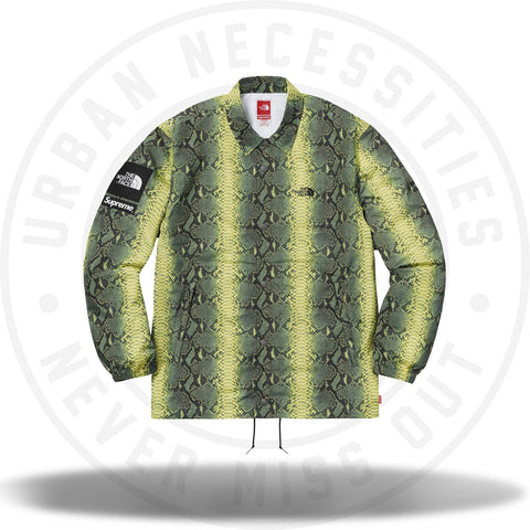 Supreme The North Face Snakeskin Taped Seam Coaches Jacket Green-Urban Necessities