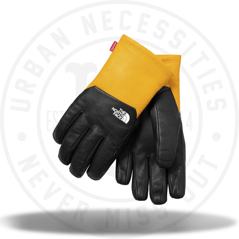 Supreme The North Face TNF Leather Gloves Yellow-Urban Necessities