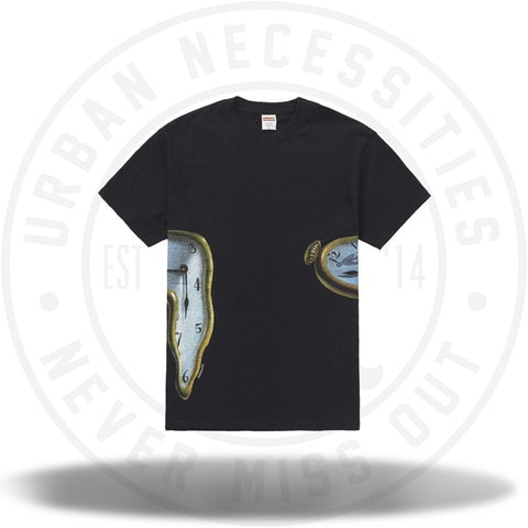 Supreme The Persistence Of Memory Tee Black-Urban Necessities