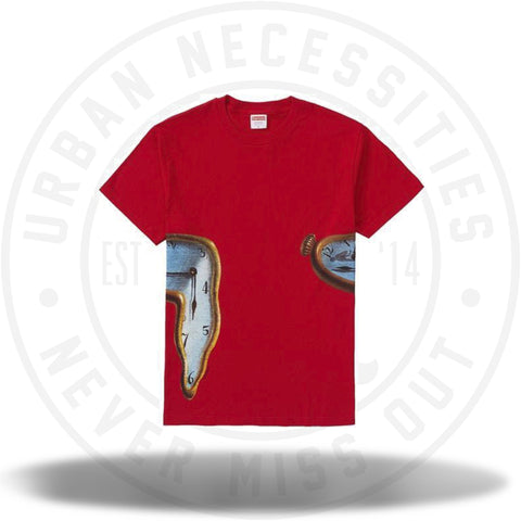 Supreme The Persistence Of Memory Tee Red-Urban Necessities