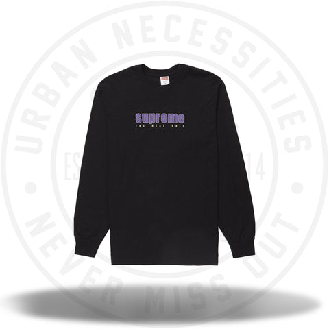Supreme The Real Shit L/S Tee Black SS19-Urban Necessities