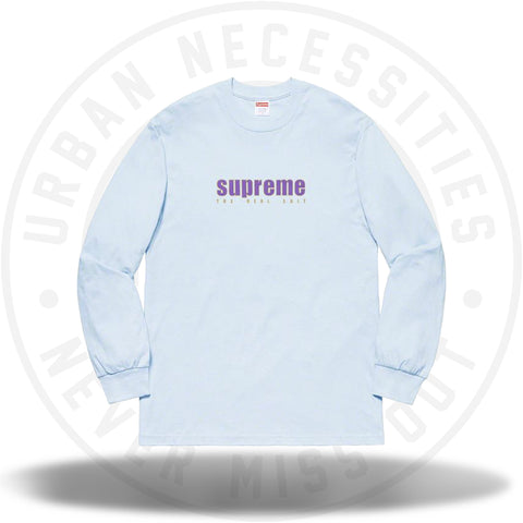Supreme The Real Shit L/S Tee Light Blue SS19-Urban Necessities