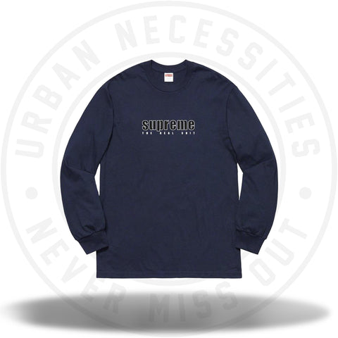 Supreme The Real Shit L/S Tee Navy SS19-Urban Necessities