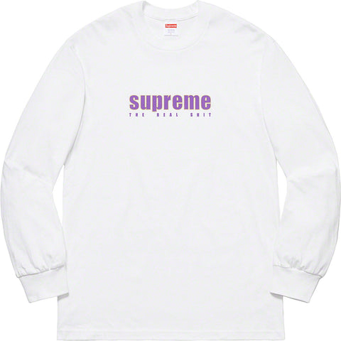 Supreme The Real Shit L/S Tee White SS19-Urban Necessities
