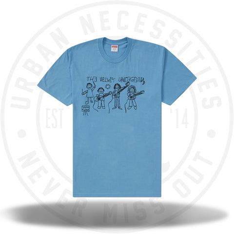 Supreme The Velvet Underground Drawing Tee Light Slate-Urban Necessities