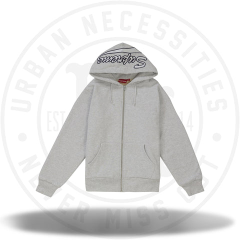 Supreme Thermal Zip Up Sweatshirt Ash Grey-Urban Necessities