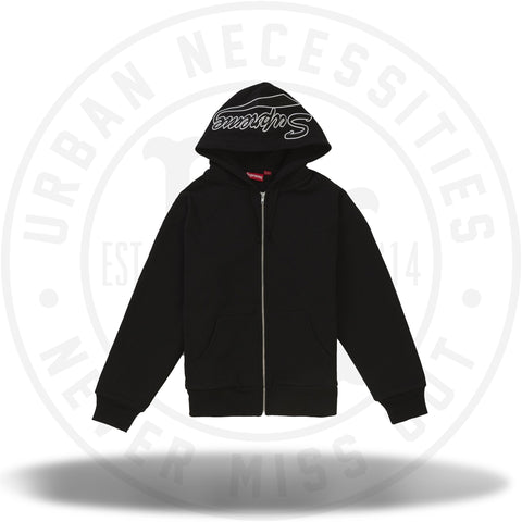 Supreme Thermal Zip Up Sweatshirt Black-Urban Necessities