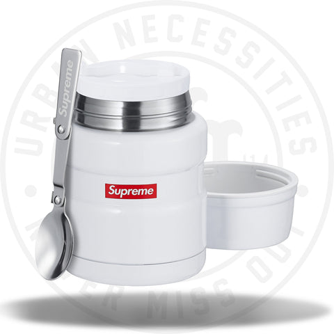 Supreme Thermos Stainless King Food Jar and Spoon White-Urban Necessities