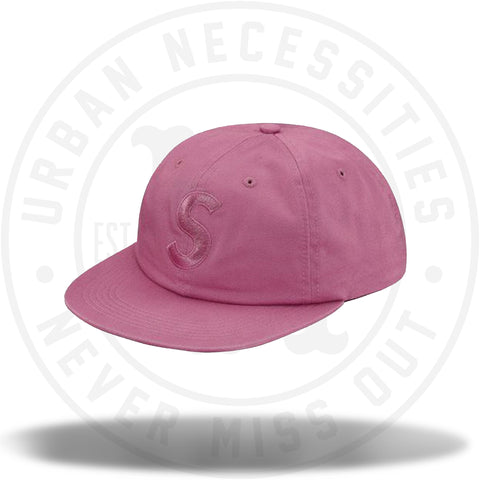 Supreme Tonal S Logo 6 Panel Bright Rose-Urban Necessities