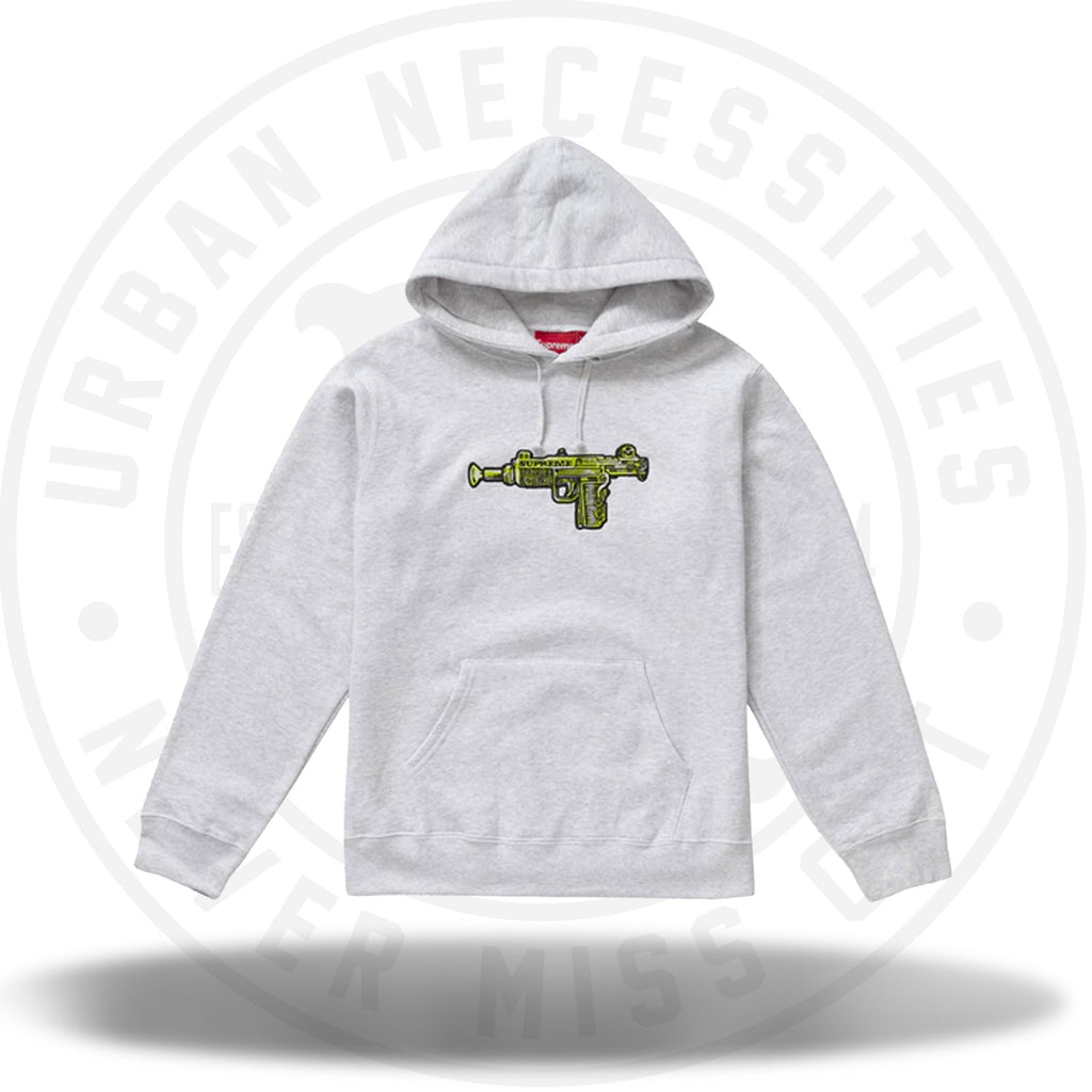 Supreme Toy Uzi Hooded Sweatshirt Ash Grey-Urban Necessities