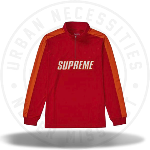Supreme Track Half Zip Pullover Red-Urban Necessities
