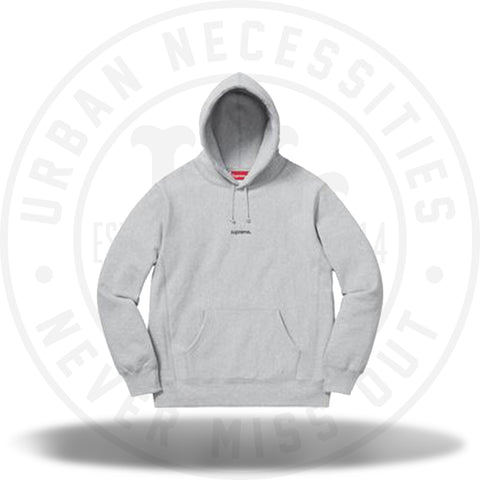 Supreme Trademark Hooded Sweatshirt Heather Grey-Urban Necessities