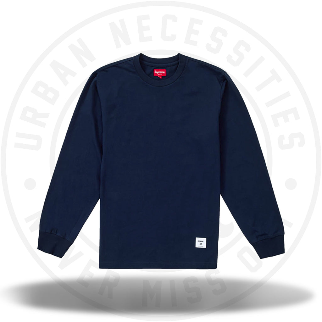 Supreme Trademark L/S Top Navy-Urban Necessities