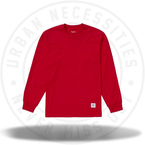 Supreme Trademark L/S Top Red-Urban Necessities