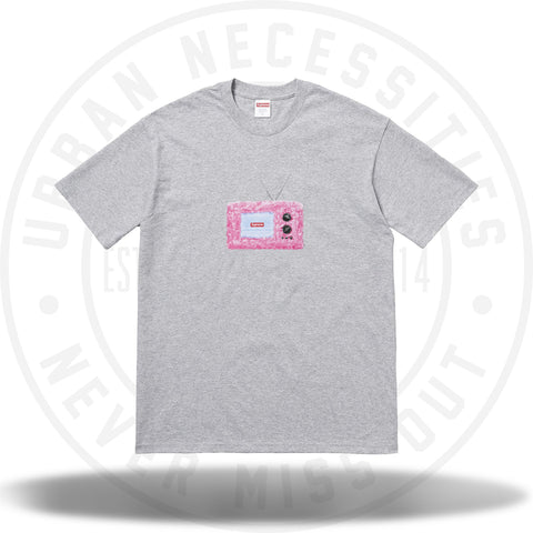 Supreme TV Tee Heather Grey-Urban Necessities