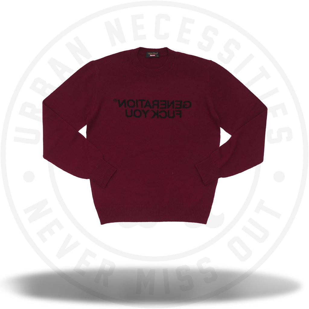 Supreme Undercover Sweater Burgundy-Urban Necessities