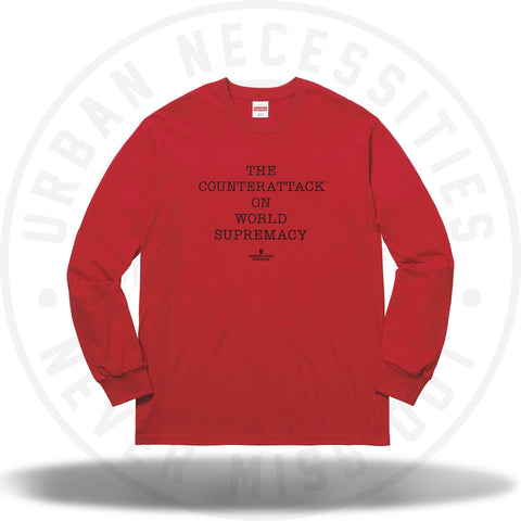 Supreme UNDERCOVER/Public Enemy Counterattack L/S Tee Red-Urban Necessities
