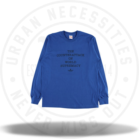 Supreme UNDERCOVER/Public Enemy Counterattack L/S Tee Royal-Urban Necessities