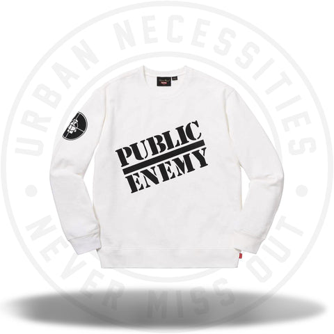 Supreme UNDERCOVER/Public Enemy Crewneck Sweatshirt White-Urban Necessities