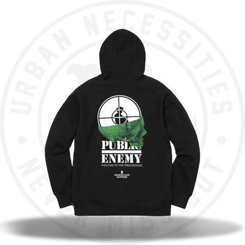 Supreme UNDERCOVER/Public Enemy Terrordome Hooded Sweatshirt Black-Urban Necessities