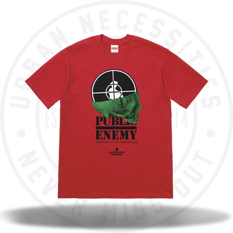 Supreme UNDERCOVER/Public Enemy Terrordome Tee Red-Urban Necessities