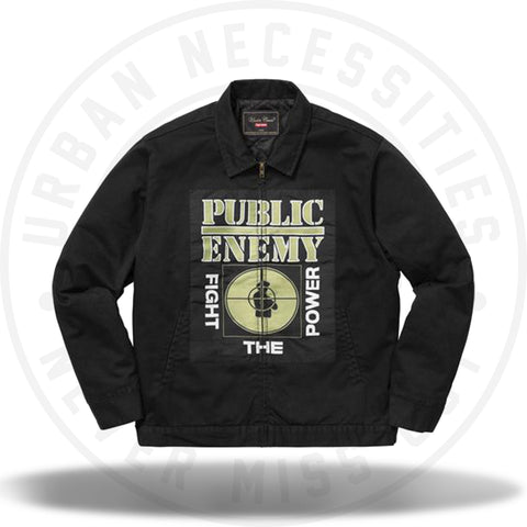 Supreme UNDERCOVER/Public Enemy Work Jacket Black-Urban Necessities