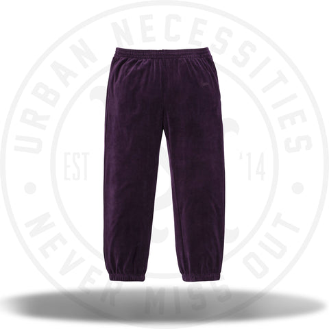 Supreme Velour Warm Up Pant Purple-Urban Necessities
