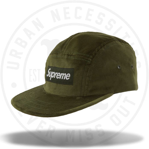 Supreme Velvet Camp Cap Olive-Urban Necessities