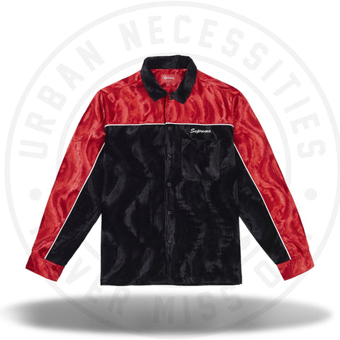 Supreme Velvet Swirl Work Shirt Black-Urban Necessities