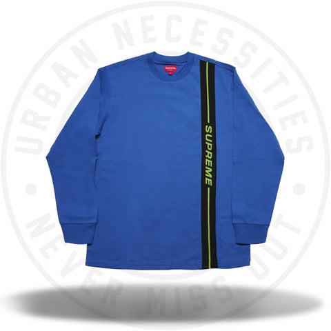 Supreme Vertical Logo Stripe L/S Top Royal-Urban Necessities