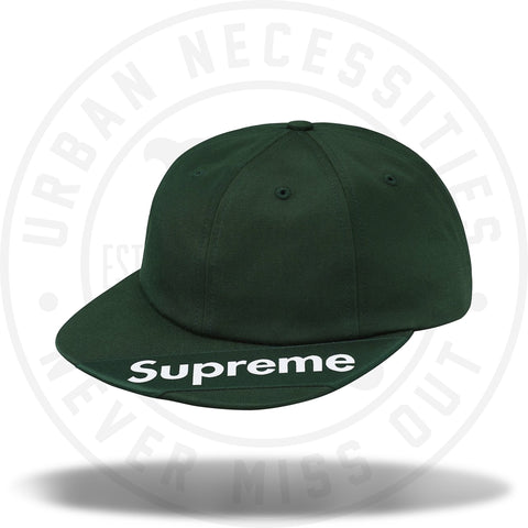 Supreme Visor Label 6-Panel Dark Green-Urban Necessities